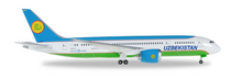 Herpa Uzbekistan Airways Boeing 787-8 Dremliner 1/500