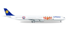 "Herpa Lufthansa Airbus A340-600 ""FC Bayern Audi Summer Tour USA 2016""  1/400"
