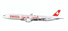 "Herpa Swiss International Air Lines Boeing 777-300ER ""Faces of Swiss"" HB-JNA 1/200"