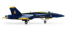 "Herpa US Navy McDonnell Douglas F/A-18 Hornet ""Blue Angels"" - No 4 - Slot 1/200"