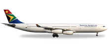 "Herpa South African Airways Airbus A340-300 - ZS-SXF ""N. Mandela Day"" 1/500"