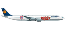"Herpa Lufthansa Airbus A340-600 ""FC Bayern Audi Summer Tour China 2017"" 1/500"