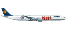 "Herpa Lufthansa Airbus A340-600 ""FC Bayern Audi Summer Tour China 2017"" 1/200"