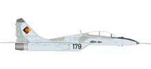 """Herpa NVO / LSK (East German Air Force) Mikoyan Gurevich MiG-29UB - Jagdfliegergeschwader 3 """"Wladimir Komarow"""", Preschen AB - 179 black 1/72"""