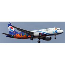"""JC Wings Chongqing Airlines Airbus A320 B-8987 """"Chongqing Shiguang"""" 1/400 XX4125"""