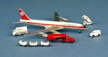 Aeroclassics Air Canada Douglas DC8-43 CF-TJK + 15 Airport GSE 1/400