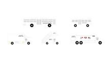 GeminiJets American ground service equipment, trucks 1/200 G2AAL721
