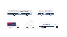 GeminiJets Delta ground service equipment, trucks 1/200 G2DAL720