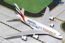 """GeminiJets Emirates Airbus A380-800 """"Real Madrid"""" A6-EUG 1/400 GJUAE1762"""