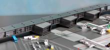 Herpa Amsterdam Airport Pier G Corridor & Pier H 1/500