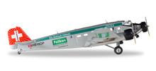 "Herpa Ju-Air Junkers Ju-52 ""Brauerei Falken"" - HB-HOP 1/160"