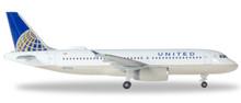 Herpa United Airlines Airbus A320 - N491UA 1/500