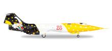"Herpa Italian Lockheed RF-104G Starfighter 28 ° Grupo, 3 ° Stormo ""Strega"" 1/72"