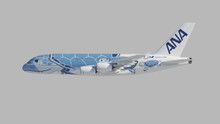 JC Wings All Nippon Airways Airbus A380 Flying Honu Lani Livery JA381A 1/200