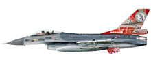 Herpa Royal Netherlands Air Force Lockheed Martin F-16A - 322 Squadron , Leeuwarden AB - 75th Anniversary – J-879 1/72