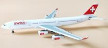 Panda Models Swiss Airbus A340-300 HB-JMJ 1/400 BOX18018