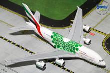 GeminiJets Emirates Airbus A380-800 (Expo 2020, Green) 1/400 GJUAE1788