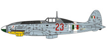 Herpa Macchi C-205 Veltro - 1L.Gorrini, 1 Squadriglia, 1 Gruppo Caccia, 1944 1/72