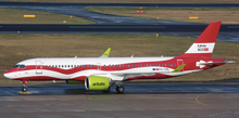 JC Wings Air Baltic Airbus A220-300 Latvia 100th Livery YL-CSL 1/200