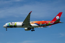 JC Wings Sichuan Airlines Airbus A350-900XWB Panda Livery B-301D Flap Down 1/400
