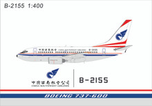 Panda Models China Southwest Airlines Boeing 737-600 B-2155 1/400