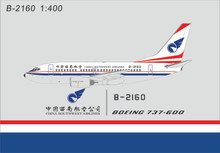 Panda Models China Southwest Airlines Boeing 737-600 B-2160 1/400