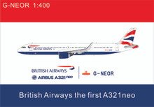 Panda Models British Airways Airbus A321Neo G-NEOR 1/400