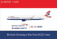 Panda Models British Airways Airbus A321Neo G-NEOR 1/400