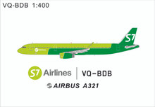 Panda Models S7 Airlines Airbus A321 VQ-BDB 1/400