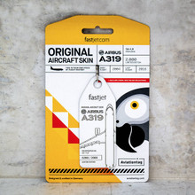 Aviationtag Airbus A319 – White (fastjet co-branded) 5H-FJF