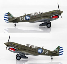 HobbyMaster Chinease Air Force P-40N Warhawk 7thFS/3rdFG Wang Kuang Fu- China 1945 1/72