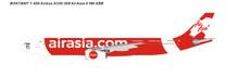 Panda Models AirAsia Airbus A330-300 9m-XXB 1/400 BOX19007