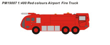 Panda Models Red Airport Fire Truck 1/400