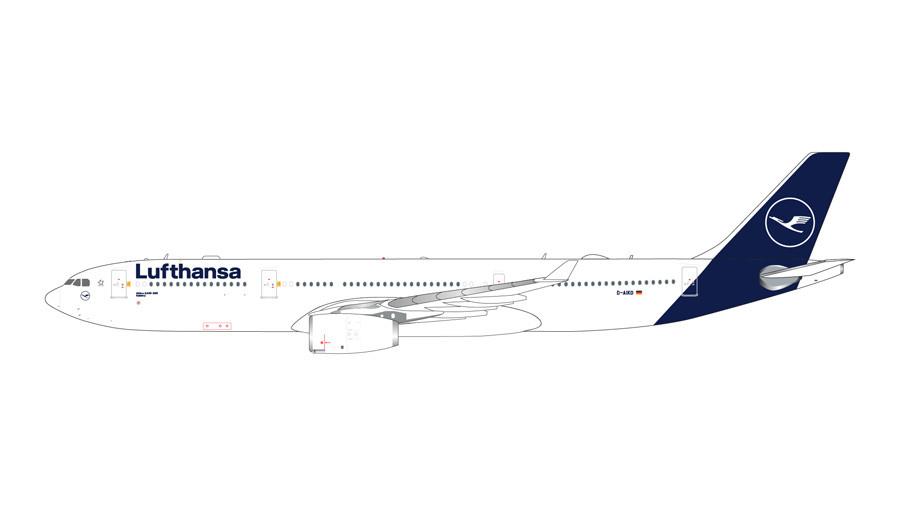 GeminiJets Lufthansa Airbus A330-300 (New Livery) D-AIKO 1
