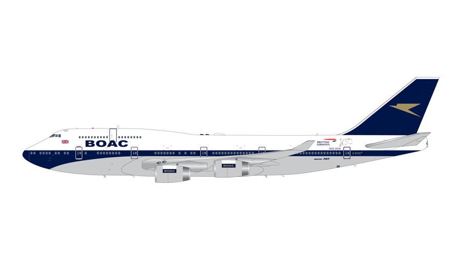 GeminiJets British Airways Boeing 747-400 (BOAC Retro Livery