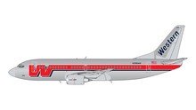GeminiJets Western Boeing 737-300 N306WA (Polished, Final Livery) 1/400 GJWAL1202