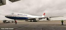 """Herpa British Airways Boeing 747-400 """"100th"""" Negus Design G-CIVB 1/500 533508"""