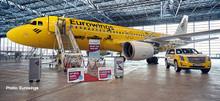 """Herpa Eurowings Airbus A320 """"Hertz 100 Years"""" 1/200 612449"""