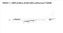 Panda Models Lufthansa Airbus a340-200 F-GNIB 1/400 PM19024
