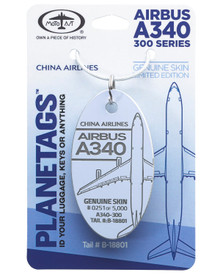 China Airlines A340-300 B-18801 PlaneTag (Light Lavender)