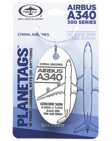China Airlines A340-300 B-18801 PlaneTag (White)