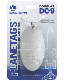 Eastern Airlines DC-9 N8990E PlaneTag (Polished)