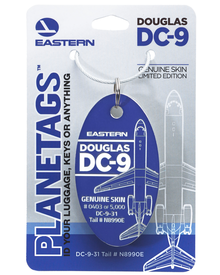 Eastern Airlines DC-9 N8990E PlaneTag (Blue)