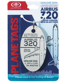 Airbus A320 N627AW PlaneTag (Grey/White Mixed) - Plane used in Movie Sully