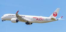 JC Wings Japan Airlines Airbus A350-900XWB JAL Red Flap Down JA01XJ 1/400 JCEW4359001A