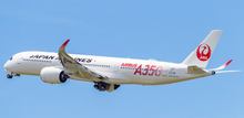 JC Wings Japan Airlines Airbus A350-900XWB JAL Red JA01XJ 1/400 JCEW4359001