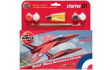 Airfix RAF Red Arrows Gnat Starter Set 1/72 A55105