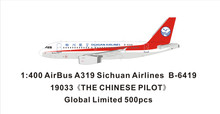 Panda Models Sichuan Airlines Airbus A319 B-6419 'the Chinese Captain' 1/400