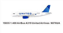 Panda Models United Airlines Airbus A319 N876UA 1/400