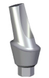 15 Degree Angled Abutment - 3mm Collar - 3.5 platform